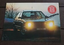 Prospekt Brochure Tatra 613-4 ca. 1990 englisch