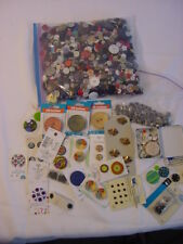 VINTAGE BUTTONS COLLECTION - 2lbs 13oz bag & others