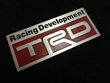 NEW LEXUS TOYOTA SCION RED TRD EMBLEM BADGE ADVAN SUPRA TACOMA COROLLA TC FRS XB