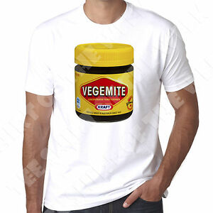 Vegemite Australian mens White Printed T Shirt