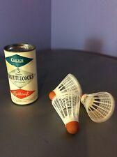 3 VTG CARLTON Plastic BADMINTON Shuttlecocks TIN Container England Sports