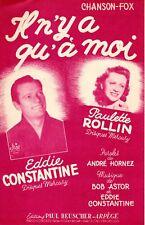 EDDIE CONSTANTINE - IL N'Y A QU'A MOI - 1953 - EXCELLENT ETAT