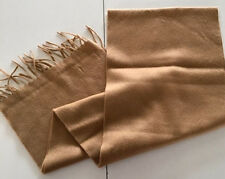 NWOT NEW 100% CASHMERE Mens scarf CLASSIC Solid CAMEL FREE SHIPPING