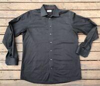 eton mens Luxury dress shirt L/S Size 43-17 Black