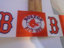 YARD OF 2 INCH WIDE BOSTON RED SOX GROSGRAIN  RIBBON SOLD BY THE YARD