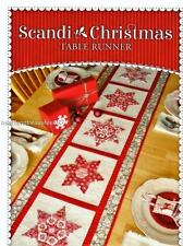Scandi Christmas Table Runner Applique & Pieced Quilt Pattern