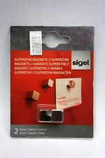 Sigel Magnetic GL191 Neodymium Magnets Cube Design Silver Glass Boards Set of 2