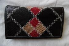 Portefeuille cuir patchwork multicolore, avec porte monnaie