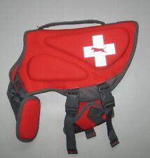 "TOP PAW Red Reflective Neoprene Dog Life Vest Jacket size M 27"" 30-55 LBS *EUC*"