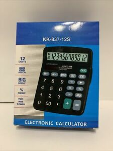 Electronic calculator KK-837-12s new in box fast ship