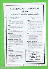 #T18   1963  AUSTRALIAN REGULAR ARMY  RECRUITMENT  POSTER
