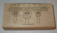 Picnic Ladybug Butterfly Bee Stampin' Up! Rubber Stamp New Sandwich 2004 NOS