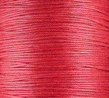 Cotton Wax Cord 20 Yards Red 1.5mm thick (1012cor02m1-4)