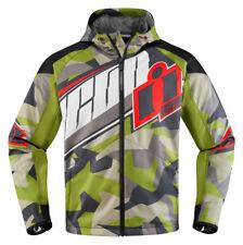 ICON Team Merc DEPLOYED Textile Motorcycle Jacket (Green) M (Medium)