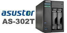 NEW Boxed NAS Server 2 Bays Asustor AS-302 AT Intel ATOM 1Gb DDR3 Gigabit