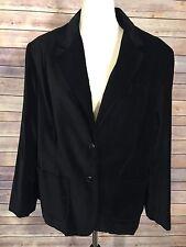 Lane Bryant Womens Blazer Jacket Black Velvet Plus Size 16