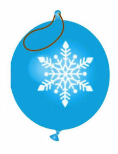 6 Snowflake Punch Balloons - Balls Pinata Toy Loot/Party Bag Fillers Kids Frozen