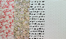 2 x A4 Hearts/Animals/Flowers/Happy Birthday Backing Paper NEW