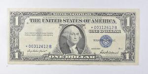 Crisp AU/Unc 1957 Star ERROR Replacement Note - Silver Certificate $1 *892