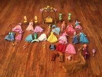 Disney Princess Little Kingdom Lot Figures Clothing Rapunzel, Ariel, Cinderella