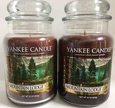 Yankee Candle MOUNTAIN LODGE 22 oz Jar Lot of 2