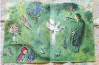 """Marc Chagall  """" Daphnis and Chloe """" Philetas Orchard Large Color Lithograph 1977"""