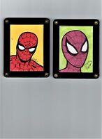 SPIDER-MAN ORIGINAL ART SKETCH CARDS  BY DAN PARENT AND FERNANDO RUIZ
