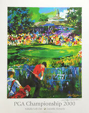 LeRoy Neiman VALHALLA GOLF PGA Tiger Woods HAND SIGNED LITHOGRAPH art