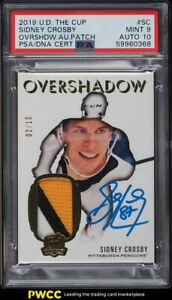 2019 The Cup Overshadow Sidney Crosby PATCH PSA/DNA 10 AUTO /10 #SC PSA 9 MINT