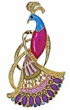 RUCINNI Fancy Bird Brooch with Swarovski Crystal and 20K Gold Plated