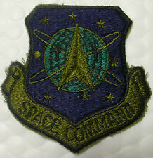 US AIR FORCE PATCH SPACE COMMAND OLIVE GREEN POCKET BDU SHIRT SUBDUED