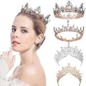 Vintage Baroque Princess Crown Girl, Tiara for Women, Queen Round birthday Crown