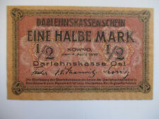 More details for 1/2 mark note (1918) german occupation of lithuania (ww1) p.r127 vf