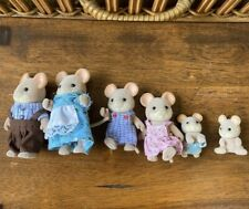 Calico Critters *NORWOOD MOUSE FAMILY* Lot of 6 --Hard to find set
