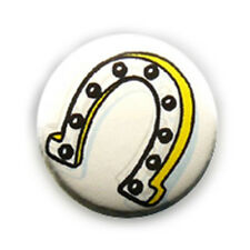 Badge FER A CHEVAL Chance Lucky Rock Western Country equitation pin badges Ø25mm