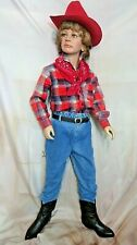 VINTAGE child 6x WESTERN WEAR set COSTUME cowboy HAT scarf BOOTS pant SHIRT belt