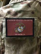 USMC Marines Veteran Morale Patch Tactical Military Army Badge Hook Flag