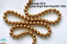 25 Beads Swarovski #5810 Crystal Bright Gold Pearl 001-306