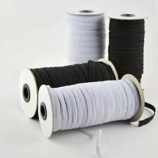 SHIPPING FROM CANADA 3mm/6mm Flat Elastic Band White black Elastic 1/8Inch