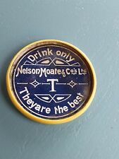 More details for vintage / antique advertising pocket mirror. nelson moate & co tea. new zealand.
