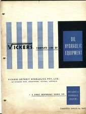 Vickers Complete Line of Oil Hydraulic Equipment catalogue