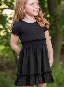 Matilda Jane Girl's Black At Dusk Lap Dress Size 6