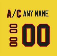 Chicago Blackhawks Vintage STARTER Yellow Jersey Customized Number Kit un-sewn