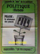 Politique Hebdo n°27 8 avril 1971 Prague: le printemps des procès