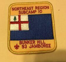 BSA Northeast Region Subcamp 10 Bunker Hill 1993 jamboree
