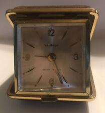 Vintage VANTAGE Tourist Travel Alarm Clock Wind Up  Rare Germany NOS In Box