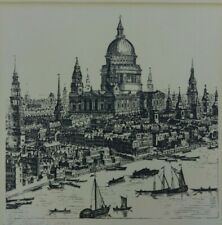 St Pauls Cathedral Vintage Art Print 1750 Black & White Historical Architecture