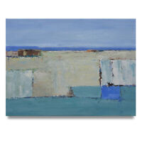 NY Art - Abstract in Coastal Colors 30x40 Original Oil Painting on Canvas