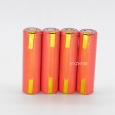 4PCS Sanyo 18650  with Tabs 3.7V 2600mAh UR18650ZY Li-ion Rechargeable Battery