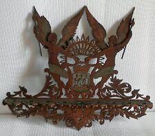 Ancien porte pipe en bois, theme  Paris/ ecusson  ectc. Magnifique couleurs